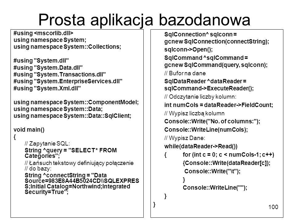 Prosta aplikacja bazodanowa