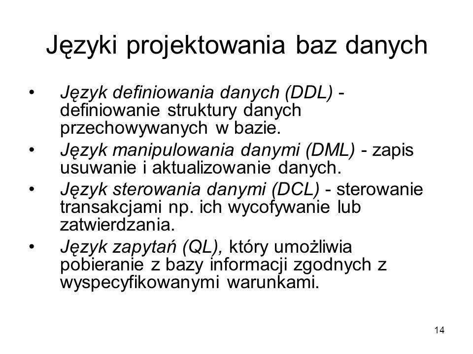 Języki projektowania baz danych