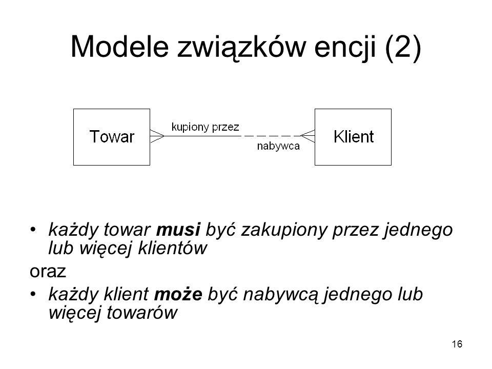 Modele związków encji (2)