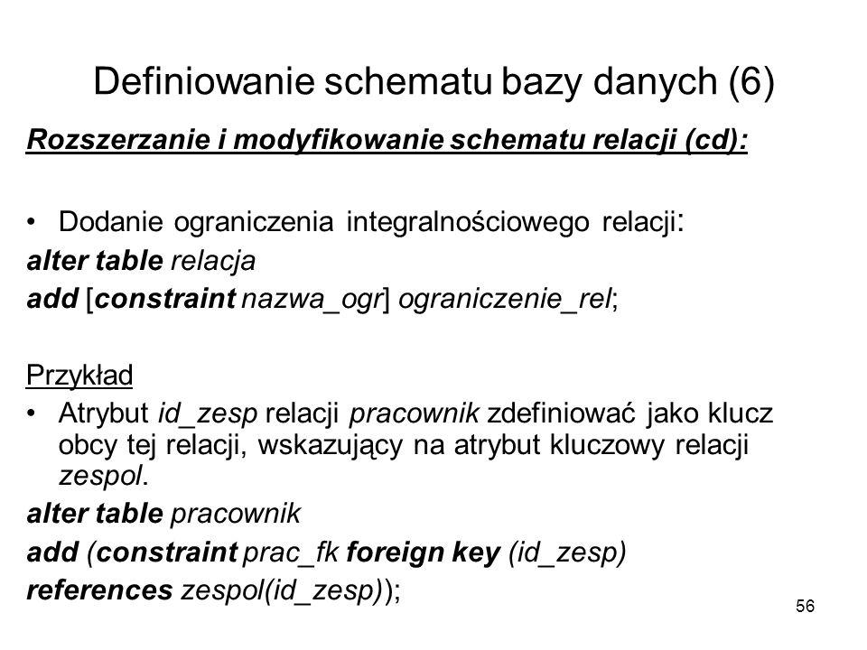 Bazy danych dr in s awomir samolej d108 a tel ppt pobierz - Alter table add foreign key ...