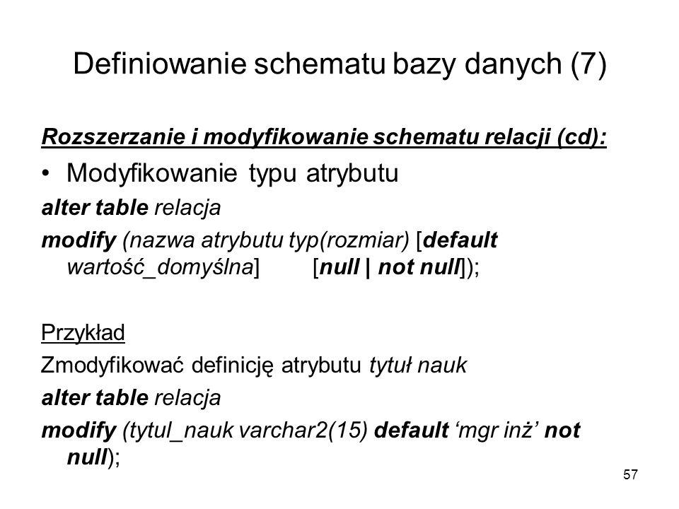 Definiowanie schematu bazy danych (7)