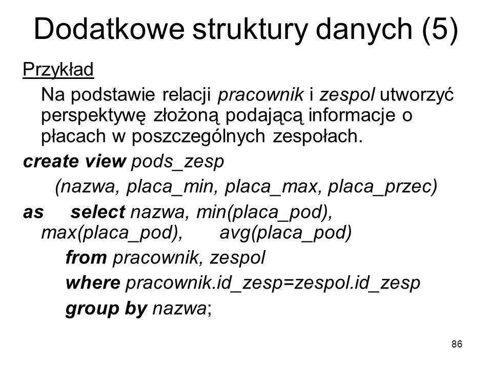 Dodatkowe struktury danych (5)