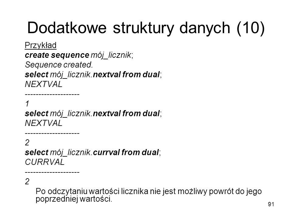 Dodatkowe struktury danych (10)