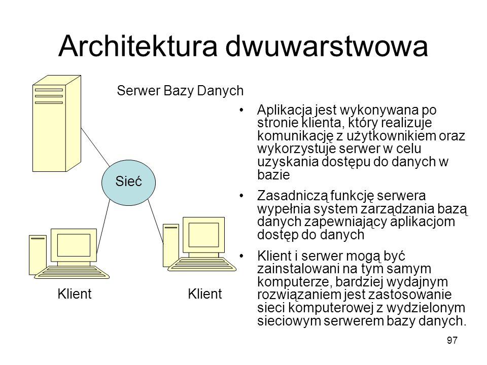 Architektura dwuwarstwowa
