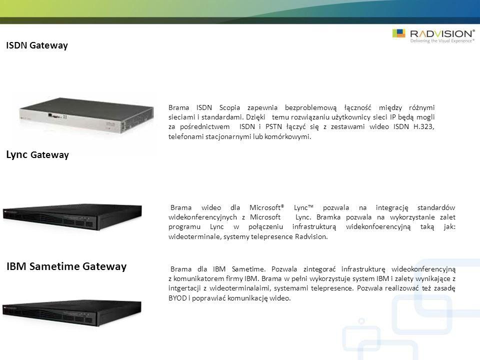 Lync Gateway IBM Sametime Gateway ISDN Gateway