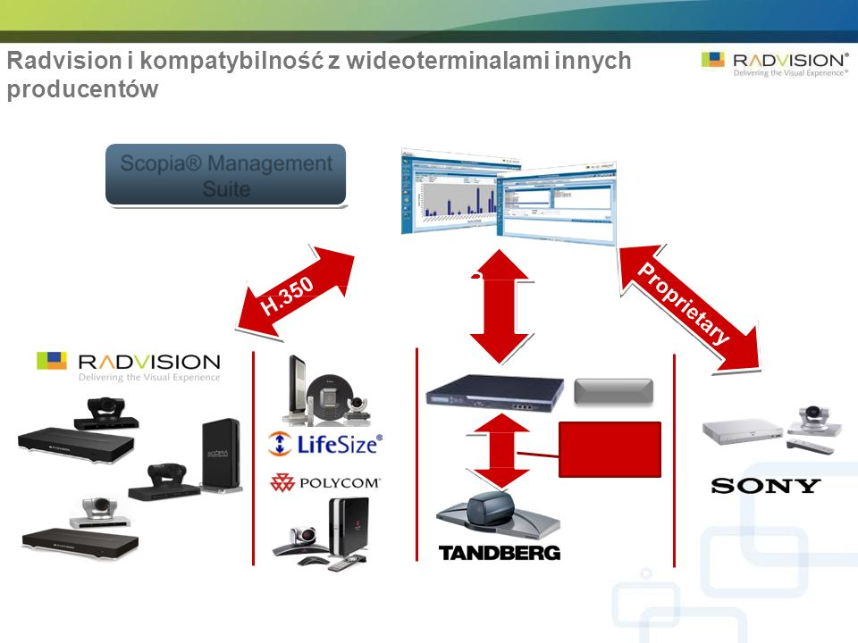 Radvision i kompatybilność z wideoterminalami innych producentów