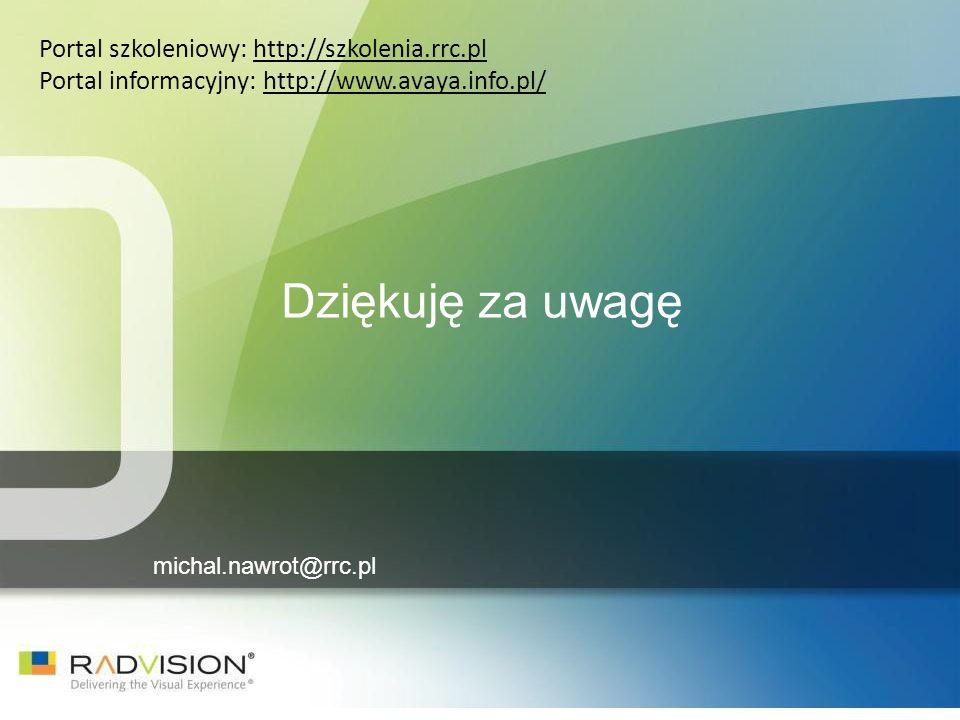 Dziękuję za uwagę Portal szkoleniowy: http://szkolenia.rrc.pl