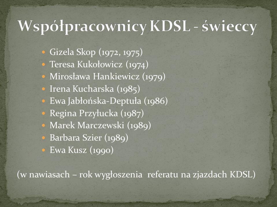 Współpracownicy KDSL - świeccy
