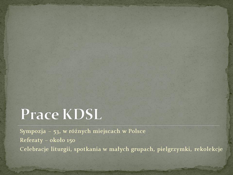 Prace KDSL Sympozja – 53, w różnych miejscach w Polsce
