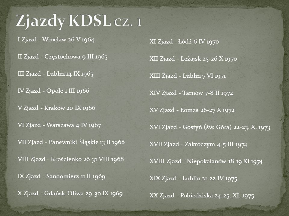 Zjazdy KDSL cz. 1 I Zjazd - Wrocław 26 V 1964