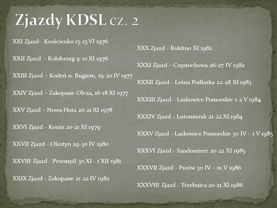 Zjazdy KDSL cz. 2 XXI Zjazd - Krościenko 15-15 VI 1976