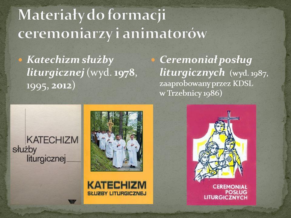 Materiały do formacji ceremoniarzy i animatorów
