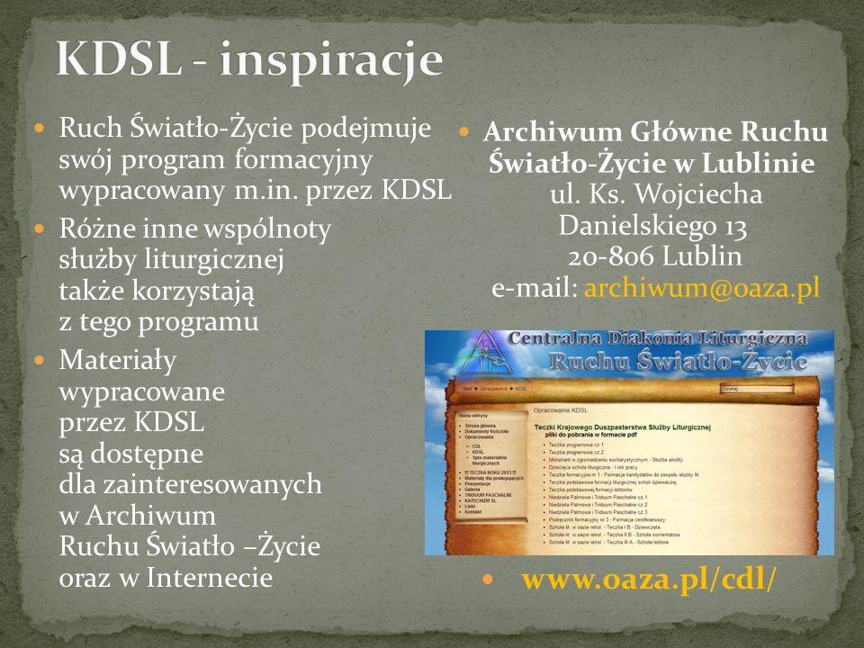 KDSL - inspiracje www.oaza.pl/cdl/