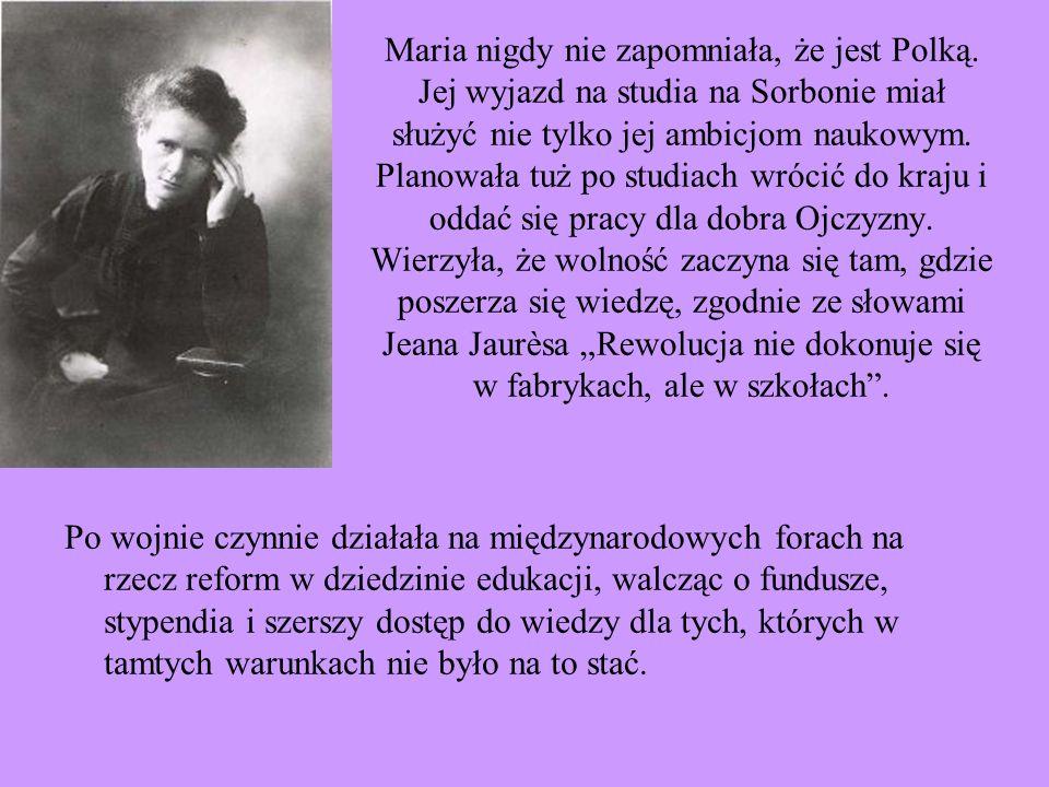 Maria nigdy nie zapomniała, że jest Polką