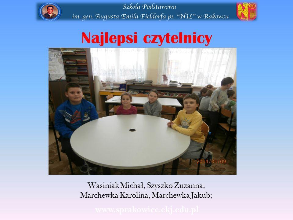 Wasiniak Michał, Szyszko Zuzanna, Marchewka Karolina, Marchewka Jakub;