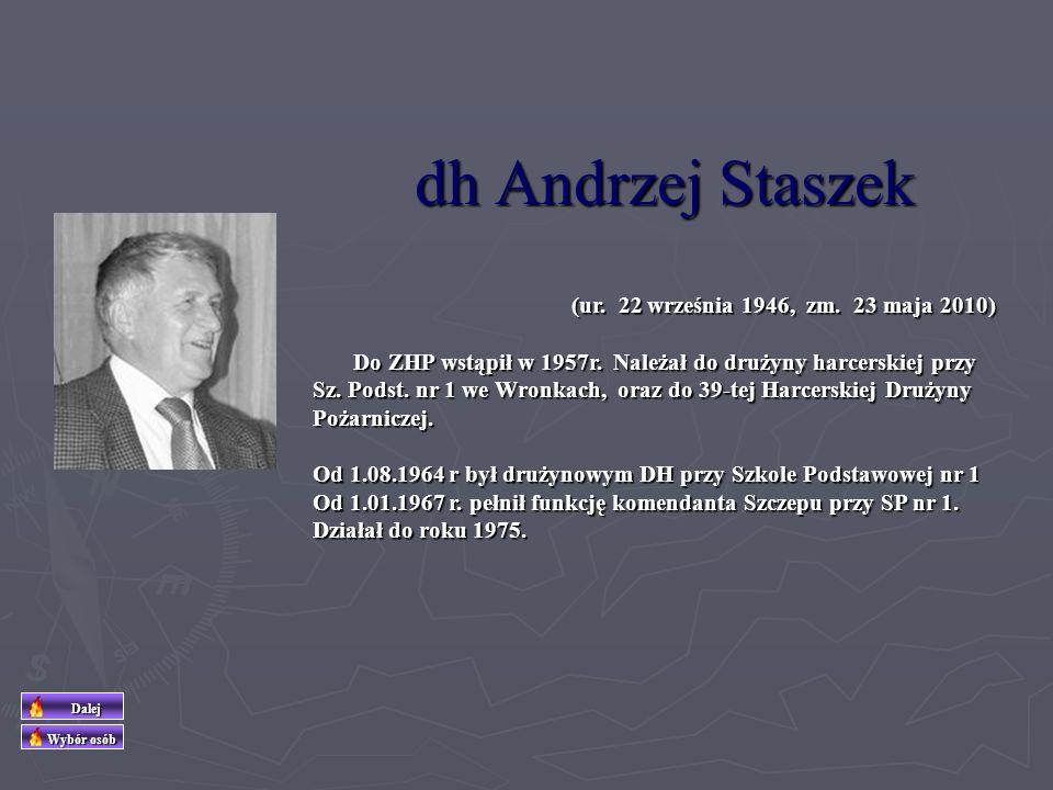 dh Andrzej Staszek (ur. 22 września 1946, zm. 23 maja 2010)