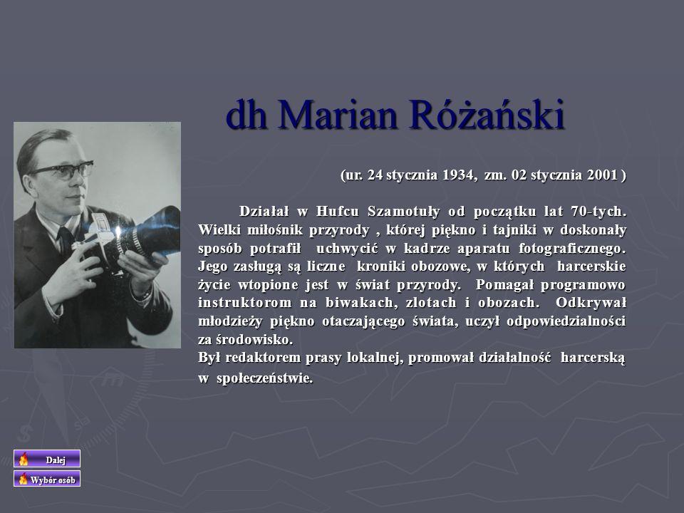 dh Marian Różański (ur. 24 stycznia 1934, zm. 02 stycznia 2001 )