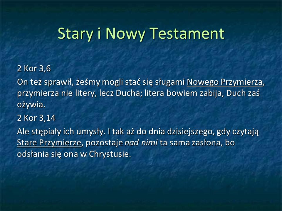 Stary i Nowy Testament