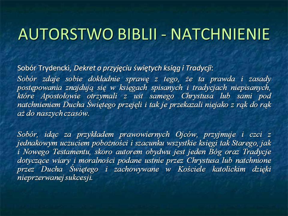 AUTORSTWO BIBLII - NATCHNIENIE