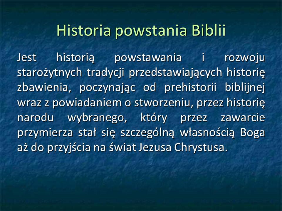 Historia powstania Biblii