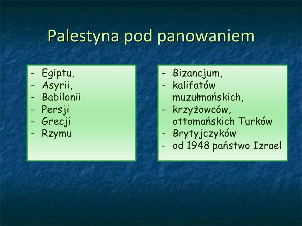 Palestyna pod panowaniem