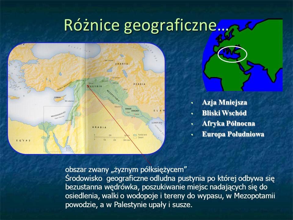 Różnice geograficzne…