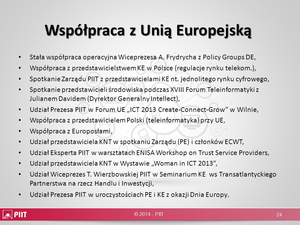 Współpraca z Unią Europejską