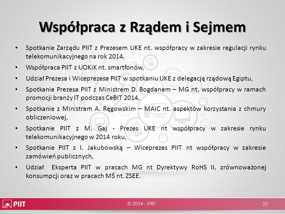 Współpraca z Rządem i Sejmem