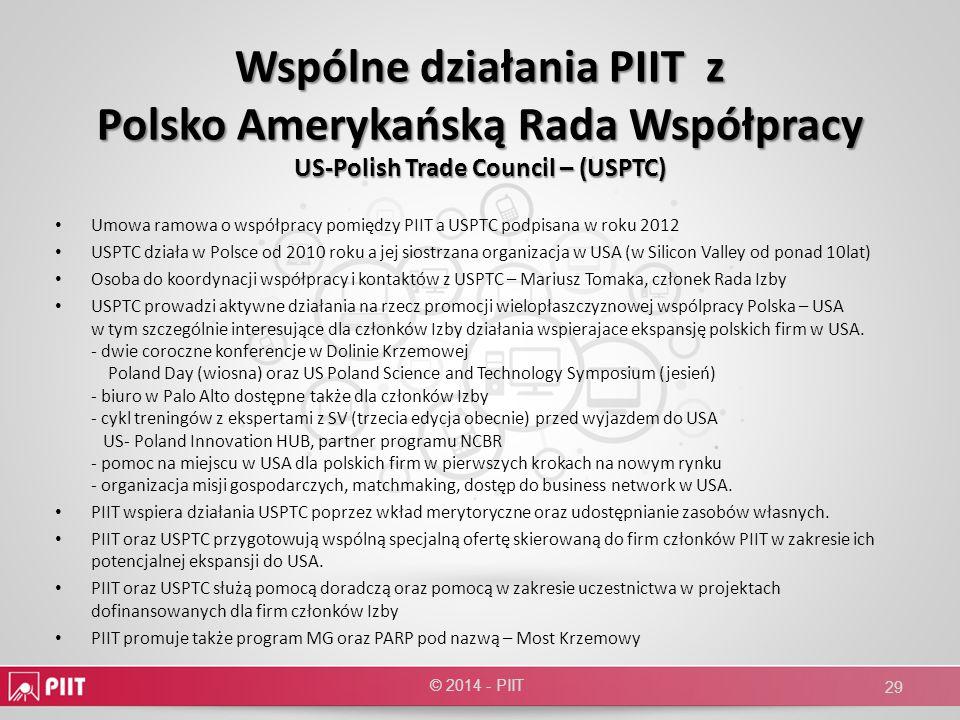 Wspólne działania PIIT z Polsko Amerykańską Rada Współpracy US-Polish Trade Council – (USPTC)
