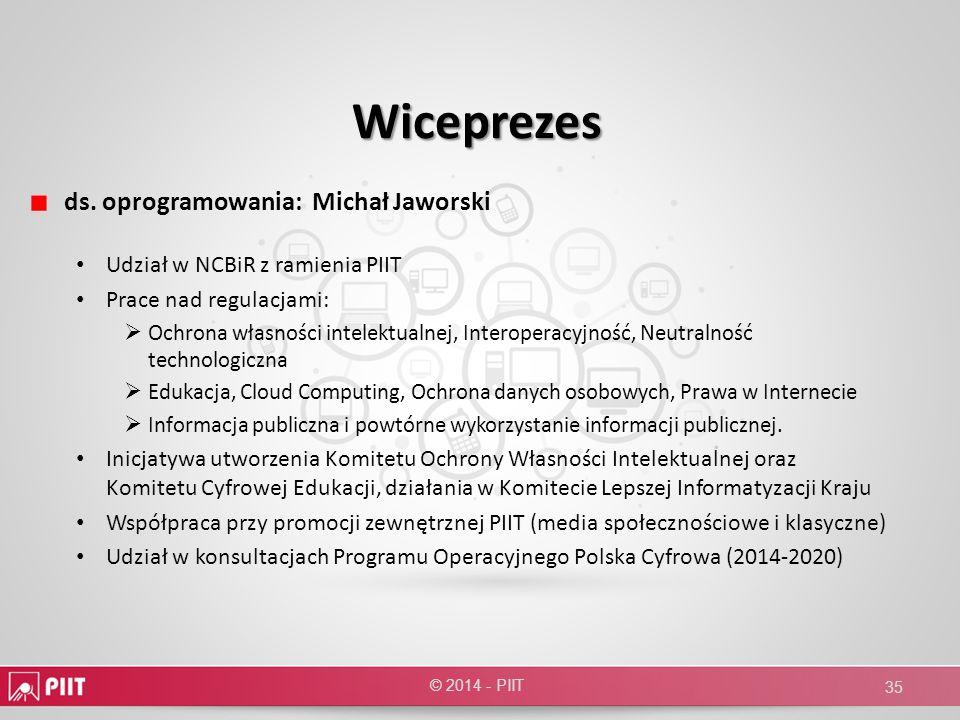 Wiceprezes ds. oprogramowania: Michał Jaworski