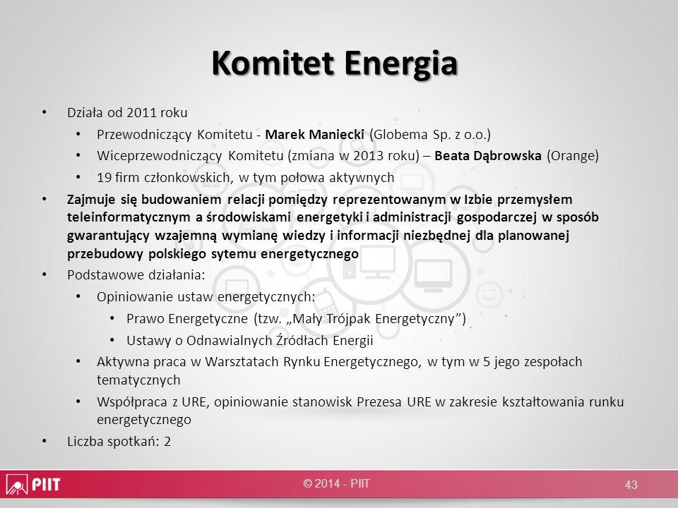 Komitet Energia Działa od 2011 roku