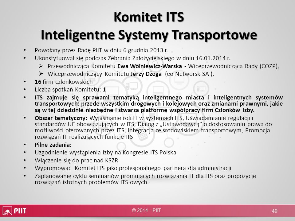 Komitet ITS Inteligentne Systemy Transportowe