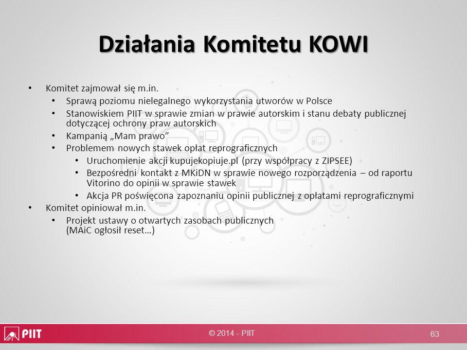 Działania Komitetu KOWI
