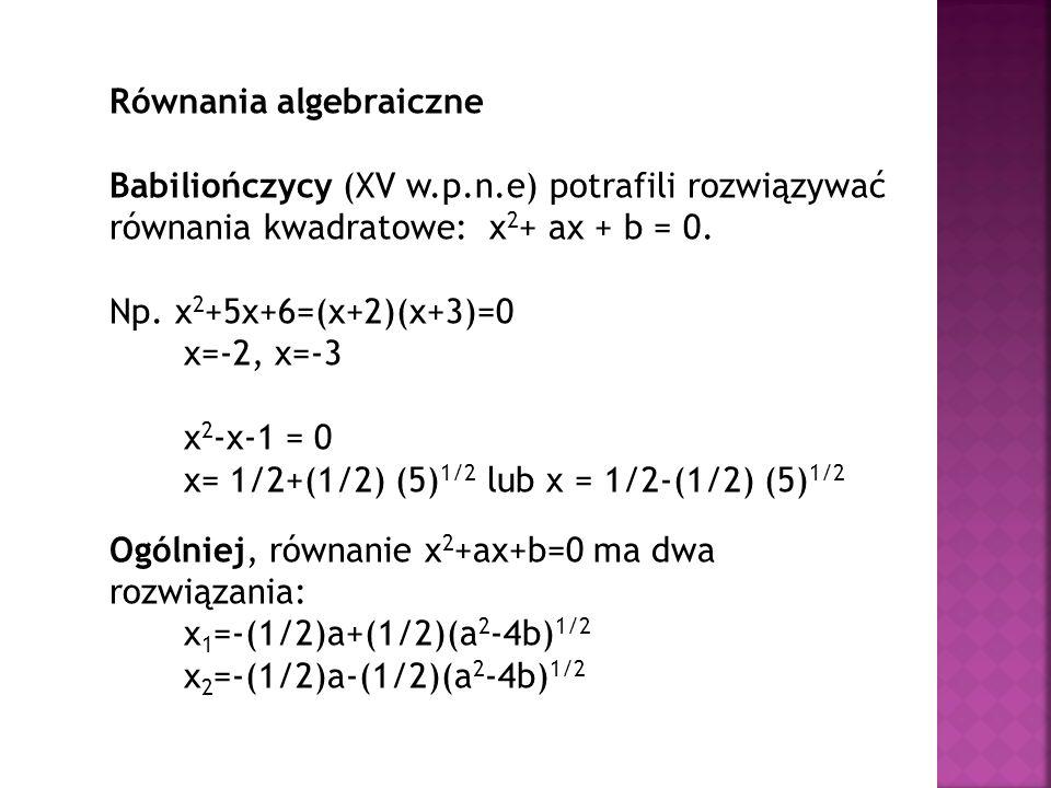Równania algebraiczne