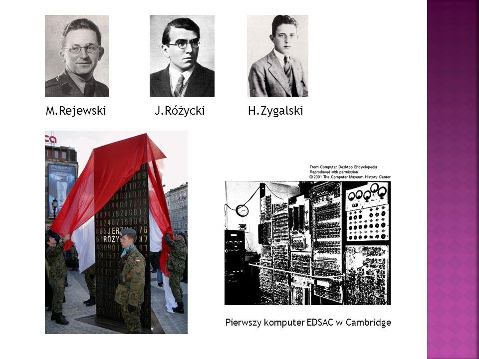 M.Rejewski J.Różycki H.Zygalski Pierwszy komputer EDSAC w Cambridge