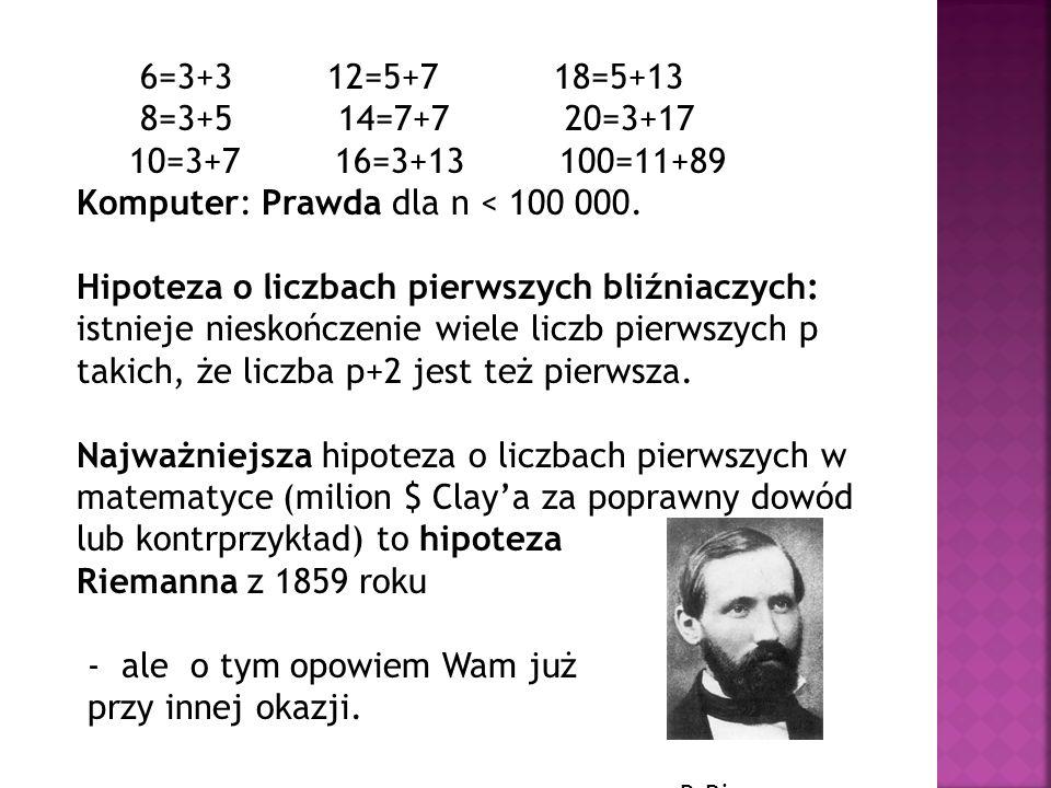 6=3+3 12=5+7 18=5+13 8=3+5 14=7+7 20=3+17. 10=3+7 16=3+13 100=11+89.