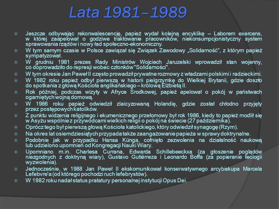 Lata 1981–1989