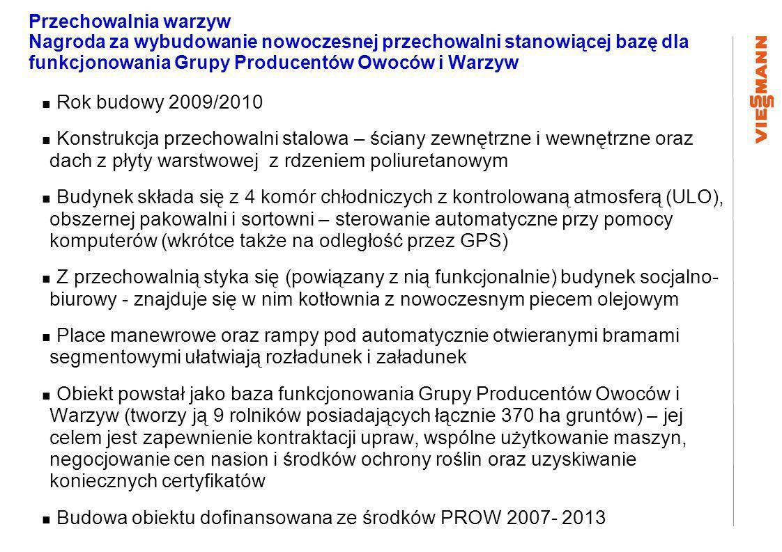 Budowa obiektu dofinansowana ze środków PROW 2007- 2013