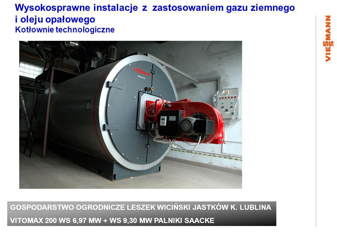 Wysokosprawne instalacje z zastosowaniem gazu ziemnego