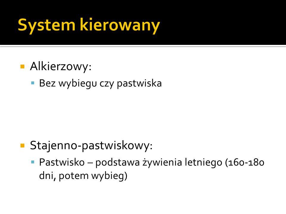 System kierowany Alkierzowy: Stajenno-pastwiskowy: