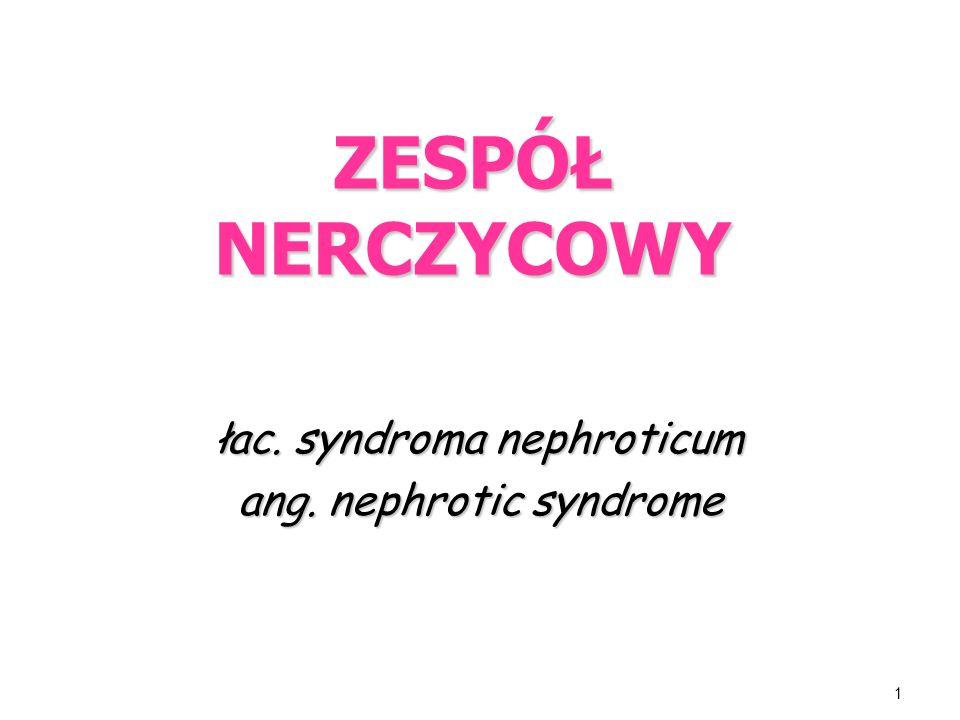 łac. syndroma nephroticum ang. nephrotic syndrome