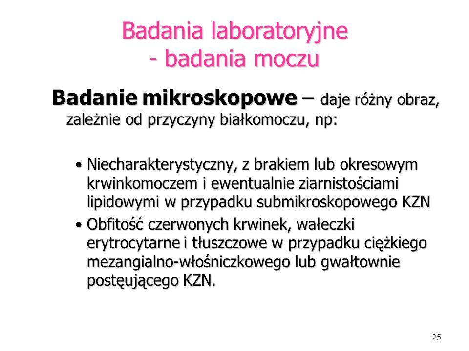 Badania laboratoryjne - badania moczu