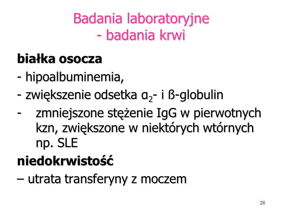 Badania laboratoryjne - badania krwi