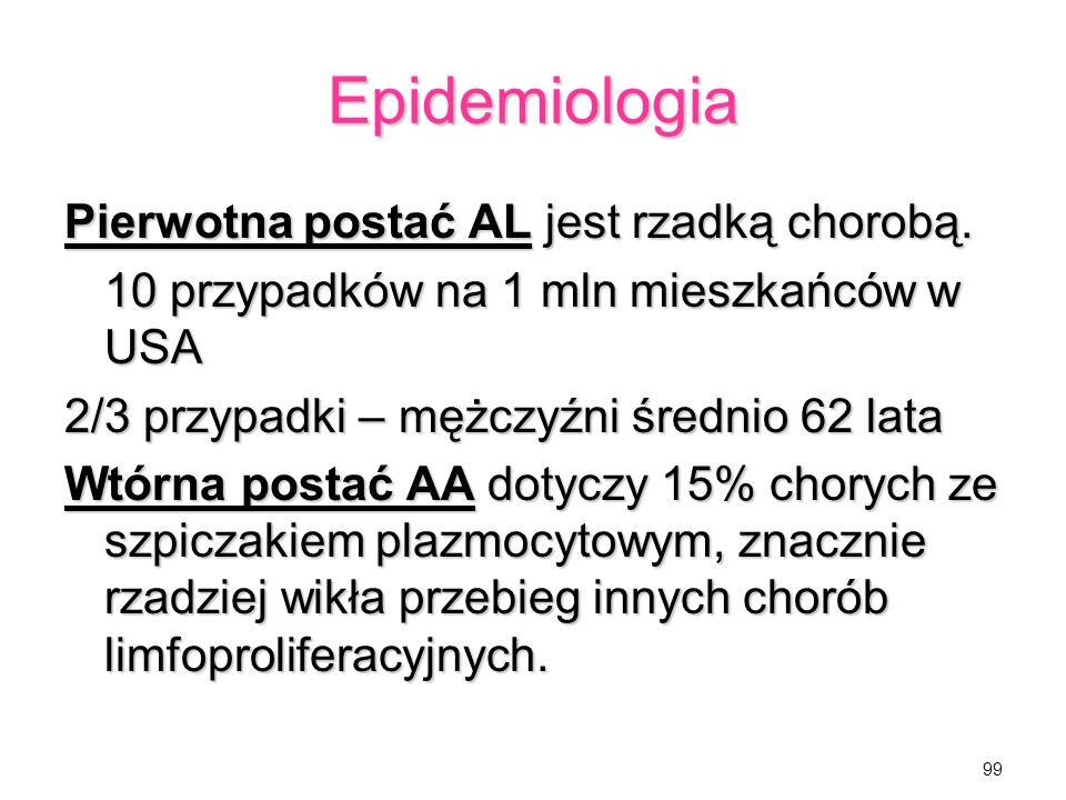 Epidemiologia Pierwotna postać AL jest rzadką chorobą.
