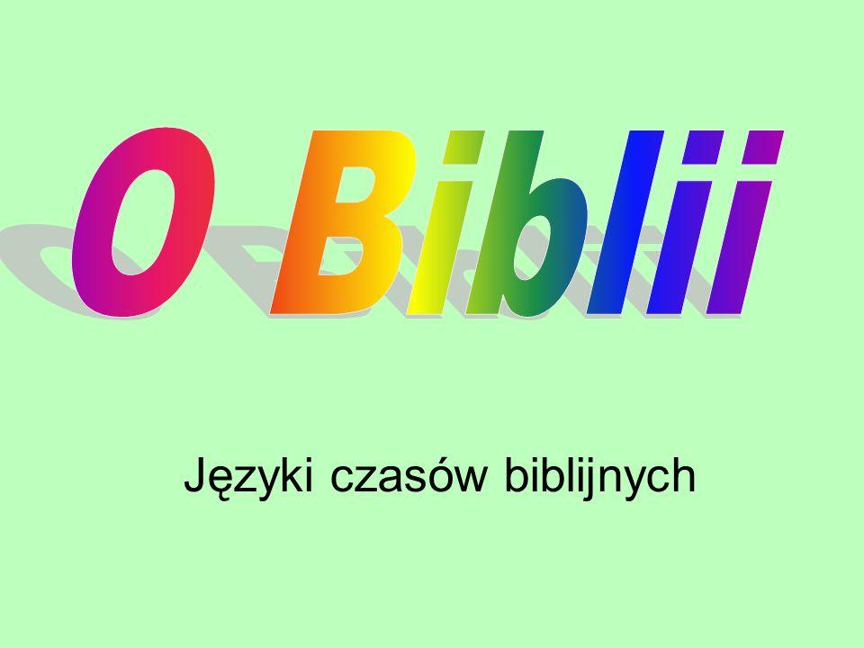 Języki czasów biblijnych