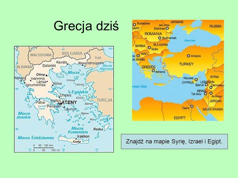 Znajdź na mapie Syrię, Izrael i Egipt.
