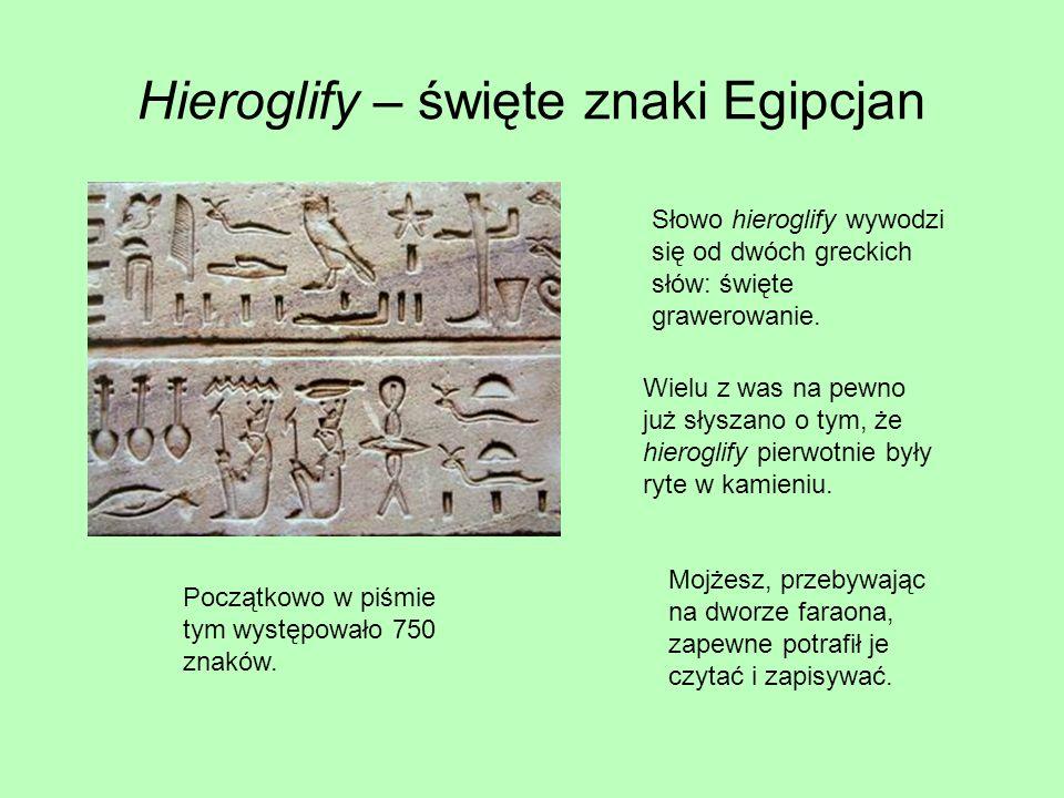 Hieroglify – święte znaki Egipcjan