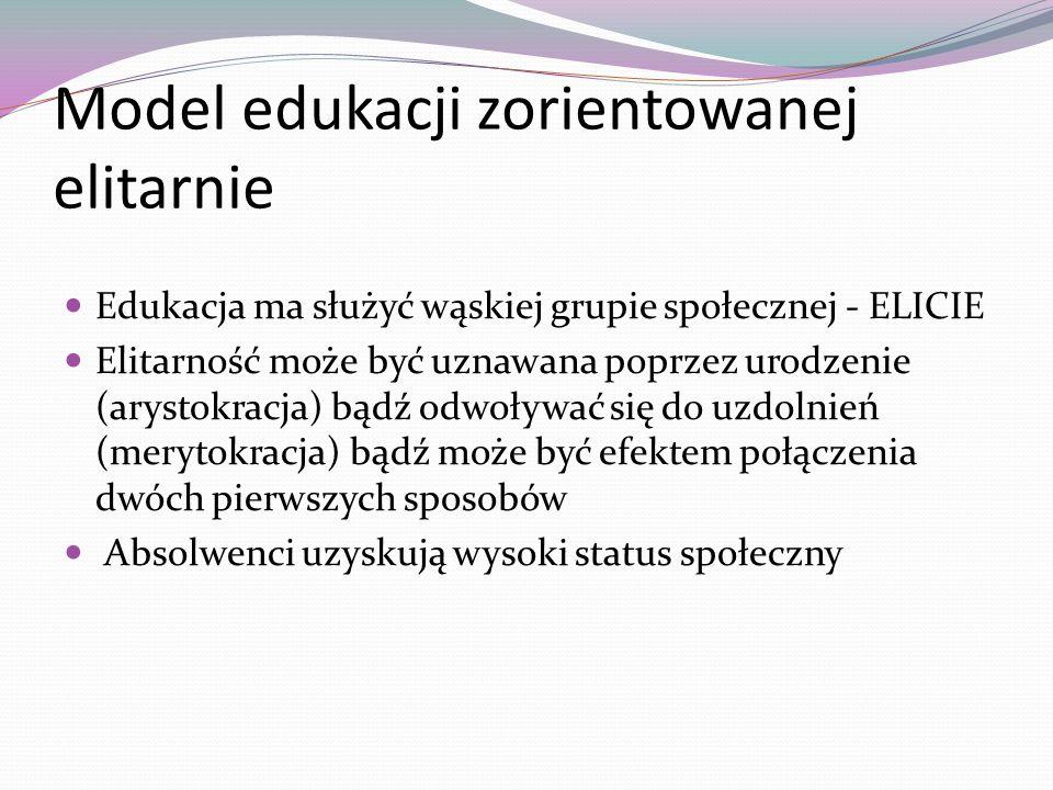 Model edukacji zorientowanej elitarnie