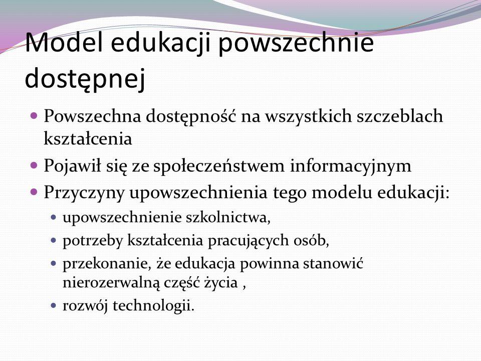 Model edukacji powszechnie dostępnej