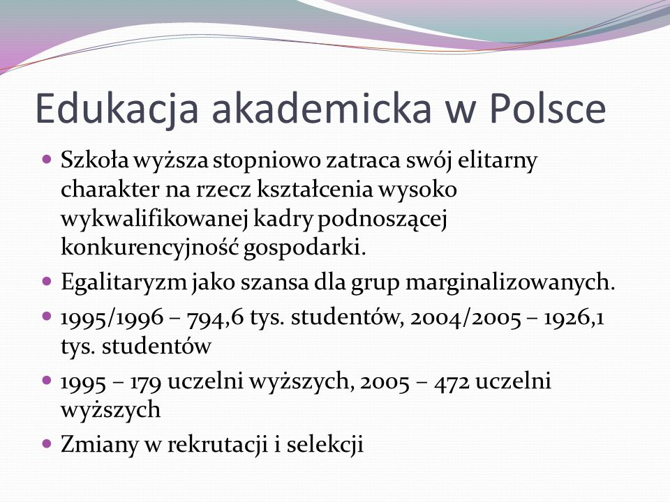 Edukacja akademicka w Polsce
